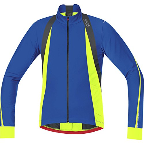 - GORE BIKE WEAR Oxygen Thermo Jersey - Long-Sleeve - Men's Brilliant Blue/Neon Yellow, XL