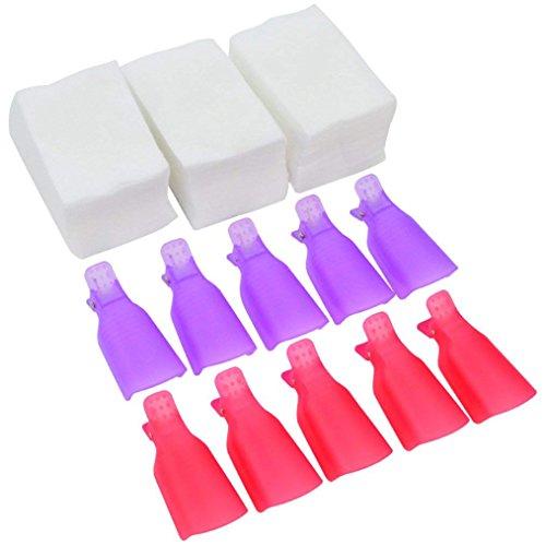 620 Pcs Nail Polish Remover Clips Kit, Bantoye 20 Pcs Nail C