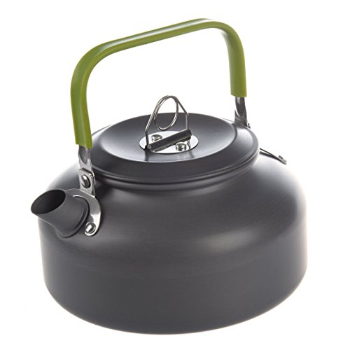 TOOGOO(R) 0.8L Portable Ultra-light Outdoor Hiking Camping Survival Water Kettle Teapot Coffee Pot Anodised Aluminum by TOOGOO(R)