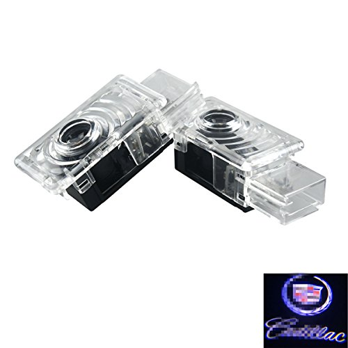 2Pcs Car Door Welcome Laser Led Light, YANF Logo Ghost Shadow Projector Lights Courtesy Step Lamps for Cadillac ATS SRX XTS