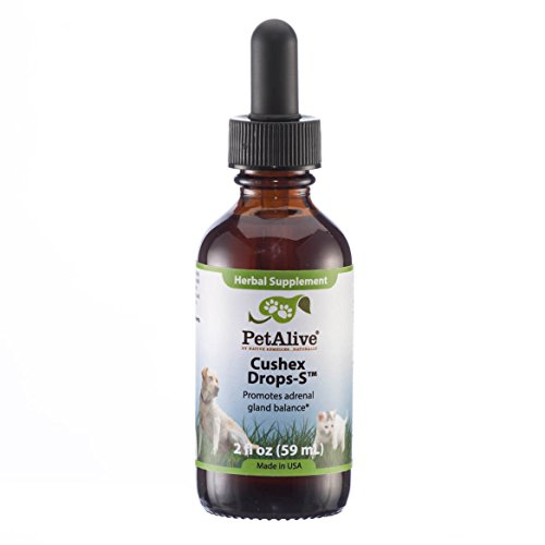 PetAlive Cushex Drops-S, Adrenal Gland Balance Herbal Pet Supplement, 2fl oz, 59ML