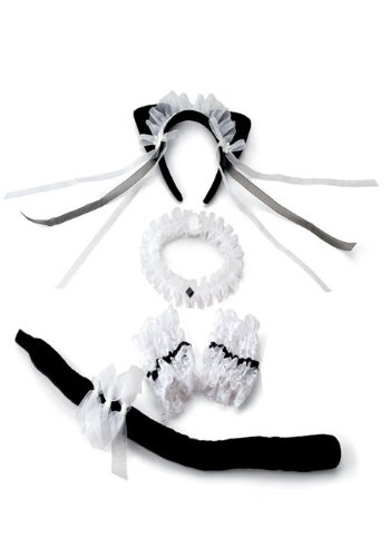 [Shirley Of Hollywood  Adult Sophisticate Accessory Set, Black/White, One Size] (Sophisticat Costume)