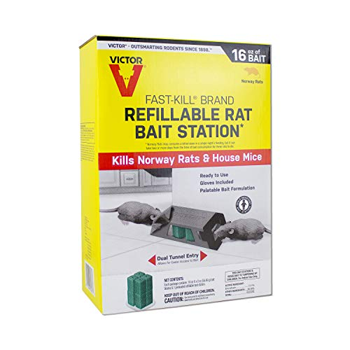 Victor M930 Fast-Kill Brand Ready-to-Use Refillable Rat Station - 8 Blocks