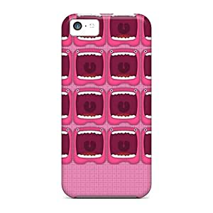 CaroleSignorile Scratch-free Phone Cases For Iphone 5c- Retail Packaging - Monster Face Pink Hd