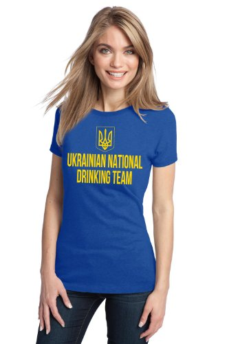UKRANIAN NATIONAL DRINKING TEAM Ladies' T-shirt / Funny Ukraine Beer Tee