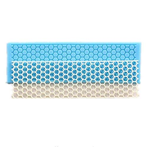 1Pcs Hexagon pattern Silicone Lace Mat Mould Honey honeycomb shape Embossing Mat,Cupcake Fondant Cake Decorating Tools Bake Molds Polymer Clay Lace Border Sugarcraft Mold,Kitchen Baking Cooking Tool,