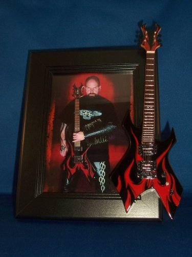 SLAYER KERRY KING Guitar Picture Frame RED FLAMES