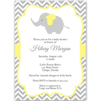 yellow baby shower invitations - 7