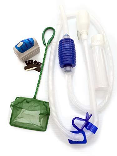 Friendly Fish Co. – Aquarium Cleaning Tools & Fish Tank Starter Kit w/Aquarium Gravel Vacuum, Aquarium Magnet Cleaner…