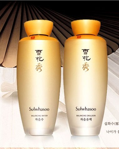 Korean cosmetic, Amore Pacific Sulhwasoo Balancing Water 125ml + Balancing Emulsion 125ml set + FREE GIFT(Mask Pack sheet and 2 other items)