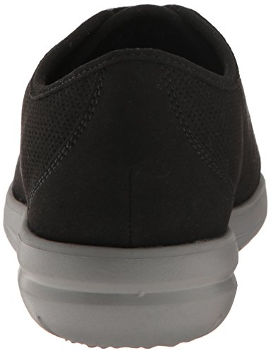 Clarks Womens Jocolin Gia Oxford, Black Perforated Microfiber, 6 M US
