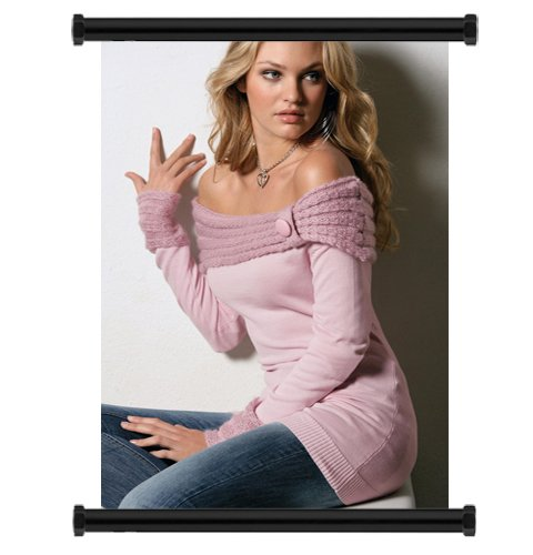 Candice Swanepoelセクシーモデルファブリック壁スクロールポスター( 16