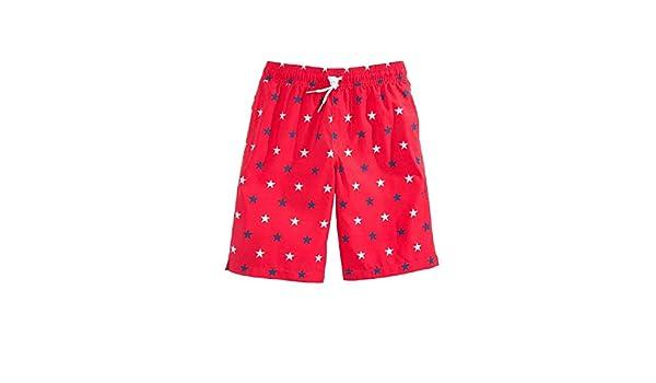 Ouxioaz Boys Swim Trunk Dot Line Pattern Beach Board Shorts