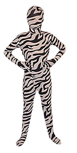 [Seeksmile Kids Costume Full Body Lycra Zentai Suit (Medium, Zebra)] (Dash Incredibles Costumes)