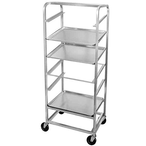 TableTop Kihg SRS-7 7 Pan Side Load Angled Merchandising Cart by TableTop King