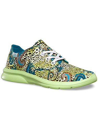 Vans Iso 2 Plus - Zapatillas Unisex adulto Multicolor (leopard/paisley/blue Bird/green)