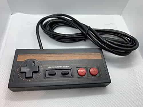Atari Joystick 7800 2600 Controller Control Pad Commodore 64 Wood Grain