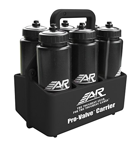 A&R Sports Water Bottle Carrier Black W/6 Pro-Valve Bottles (Pro Valve)