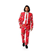 OppoSuits Men's Christmaster Party Costume Suit