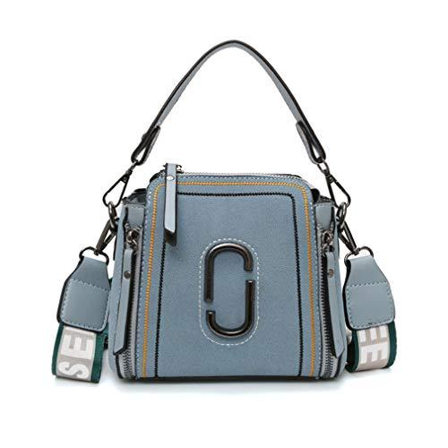 19cm10cm16cm Blue Shoulder Women's Tote Bucket Bags Handbag Bag Red xwq0ZpA