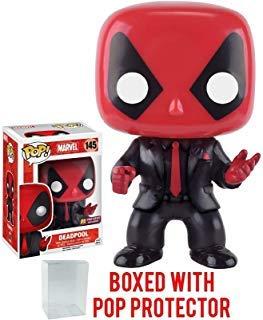 Funko Pop! Marvel: Deadpool Dressed to Kill Suit & Tie PX Exclusive Vinyl Figure (Bundled with Pop Box Protector CASE)