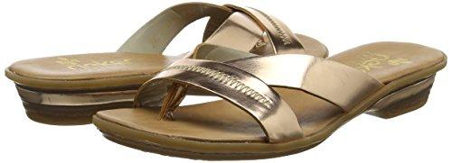 Mujer Bronze Rieker Chanclas para 63468 Dorado HvgvX8