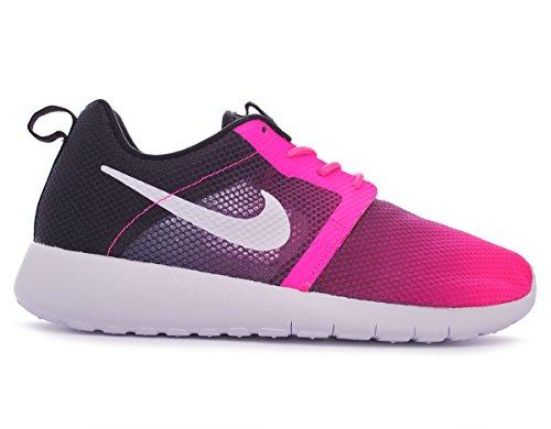 Nike Jr Rosherun Flight Weight Gs - Zapatillas Unisex Niños Pink Pow/Black/White