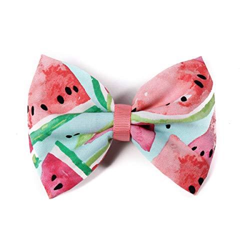 Pink Watermelon Fabric Hair Bow Clip ()