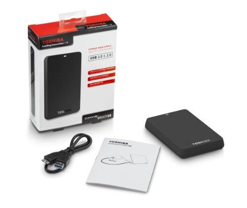 Toshiba Canvio Basics 3.0 1 TB Portable Hard Drive (Black)(HDTB210XK3BA)