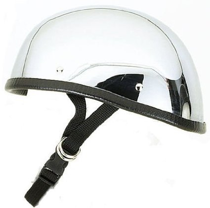 Chrome Novelty Motorcycle Helmet - 7