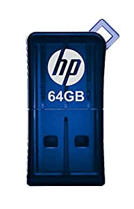 HP v165w 64GB USB 2.0 Flash Drive - Blue - P-FD64GHP165-GE