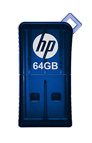 HP v165w 64GB USB 2.0 Flash Drive - Blue - P-FD64GHP165-GE - Usb Flash Drive Retail Package