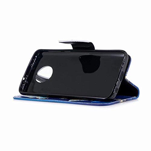 Oro Pelle Per Farfalla Pu Stand Borsa Moto Funzione Carte Protettivo Yiizy Flip Fiori Porta Magnetica G6 Custodie Silicone Cover Morbido 2018 Case Blu Stile Tpu Portafoglio Oq4S8z