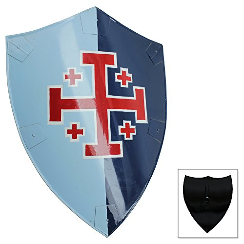 Knights Templar Steel Cross Replica Shield of Arms 23.5 Inch Iron ()
