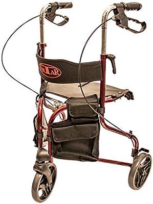 Antar 14131 Delta gehrad, Andador con 3 ruedas y bolsillo extraíble