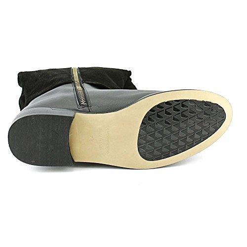 Carmen Valvo Boots Womens Fashion Almond Black Knee High Suede Marc Mackenzie Toe OOpFxq