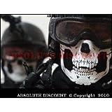 Multifuncional Headwear 12en 1calentador de cuello máscara fantasma calavera–Call Of Duty Modern Warfare, MW3negro Ops batalla–para Airsoft y Paintball motocicleta Esquí al aire libre