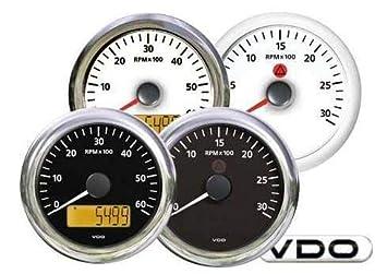 0762cd389 Vdo cuentarrevoluciones Diesel 5000 RPM Blanco: Amazon.es: Deportes y aire  libre