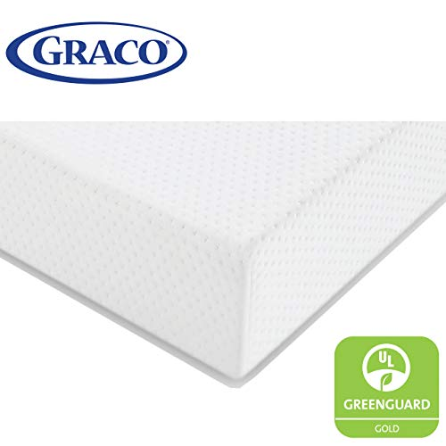 Graco Premium Foam Crib and Toddler Mattress in a Box - GREENGUARD Gold Certified, Non-Toxic, Breathable, Removable Washable Water Resistant Outer Cover (Davinci Kalani 3 Drawer Changer Dresser White)
