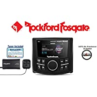 Rockford Fosgate PMX-3 Punch Marine/Motorsport Compact Digital Media Receiver with 2.7 Display and a SiriusXM SXV300V1 Tuner Antenna with a FREE SOTS Air Freshener