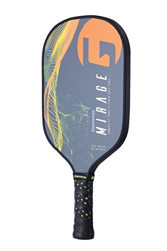 Gamma Mirage Composite Pickleball Paddle: Pickle Ball Paddles for Indoor & Outdoor Play - USAPA Approved Racquet for Adults & Kids - Orange/Green by Gamma (Image #2)