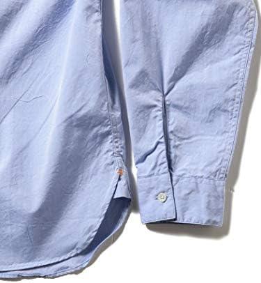 ワイシャツ カジュアルシャツ PLUS ブロード バンドカラー プルオーバーシャツ メンズ