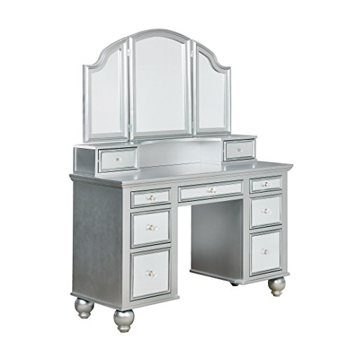 - HOMES: Inside + Out IDF-DK6162SV Emerald Vanity Set Not Applicable, Silver