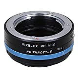 Vizelex ND Throttle Lens Adapter Compatible with Minolta MD Lenses to Sony E-Mount Cameras - by Fotodiox Pro