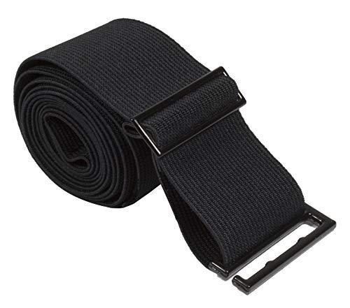 Gelante Lady Invisible Belt - Web Canvas Elastic Adjustable Skinny No Show Belt-2051-BLack (0-14) (Ladies Canvas Belts)