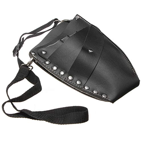 Scissor Holster, Luckyfine Leather Barber Scissor Hairdressing Holster Pouch Holder Case with Waist Shoulder Belt, Holder for Hair Cutting Scissors/Shears, Clippers, Styling Combs