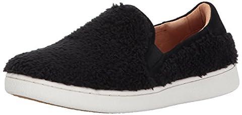 UGG Women's Ricci Slip-On Sneaker, Black, 8 M US - Faux Ugg Boots
