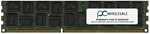 - HP Compatible 8GB PC3-12800 DDR3-1600 1Rx4 1.5v ECC Registered RDIMM (HP PN# 647651-081)