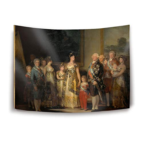 YDYOOD Tapestry Home Decorations Art Wall Hanging Hippie Tapestries 80 x 60 in Artistic The Family Charles Iv