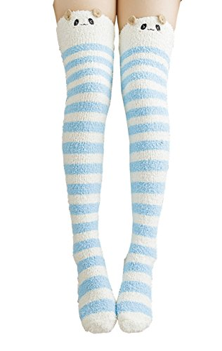 Socks Winter Fuzzy Stripe Warmers